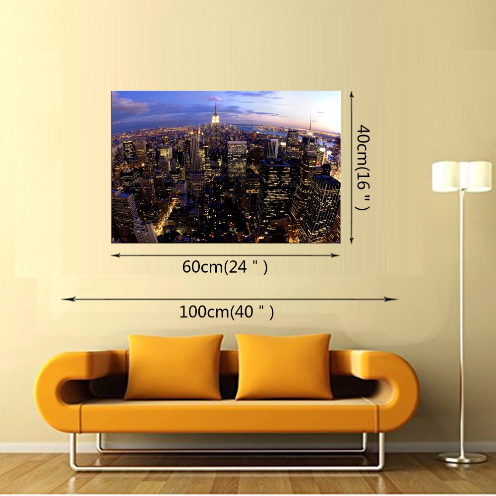 1 Panel Free Shipping Modern city decoration wall art pictures ...