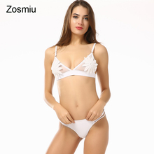 ФОТО zosmiu flower bikini sexy hollow lace swimsuit thong micro bikinis push up bathing suit biquini monokini 2018 beachwear swimwear