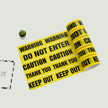 1 רול 48mm * 25m מול קלטות מחסום זהירות עבודה בטיחות דבק קלטות DIY מדבקת קניון חנות מפעל בית ספר