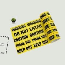 1 롤 48mm * 25m opp 경고 테이프주의 배리어 작업 안전 접착 테이프 diy 스티커 쇼핑몰 공장 학교