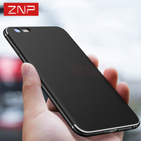 ZNP Luxury Back Matte Soft Silicon case For iphone 6 cases 6s plus 5 5s 5SE color Full cover For iphone 7 7 plus 6 6 plus case