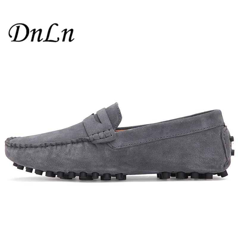 Big Size 38-47 Men Loafers Suede Leather Casual Shoes Slip On Mens Moccasins Shoes Man Flats Driving Shoes D30 nightclub luxury fashion slip on embossed leather dress shoes flats big size men moccasins casual shoes mens loafers espadrilles