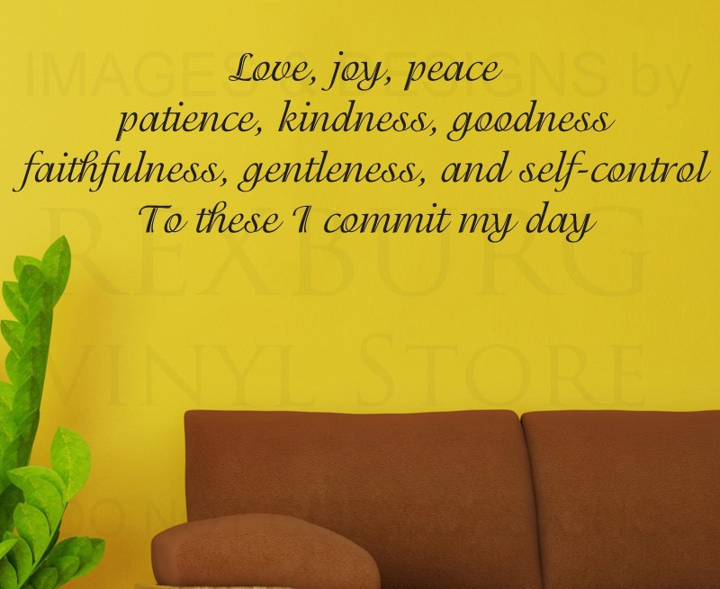 Wall Decal Quote Sticker Vinyl Large Love Joy Peace Patience God
