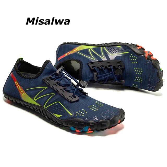Misalwa Oversize 35-47 Cinco Toe Tênis De Água Dos Homens do Sexo Feminino Fora Da Malha Plana Sapatos de Verão dos homens de Secagem Rápida sapato leve