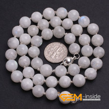 natural moonstone necklace Birthstone of June Symbol of health, longevity and wealth free shipping