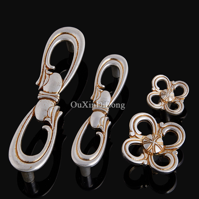 High Quality 10PCS European Antique Kitchen Door Furniture Handle Cupboard Drawer Wardrobe Wine Cabinet Pulls Handles and Knobs push to open beetles drawer cabinet latch catch touch release kitchen cupboard new arrival high quality