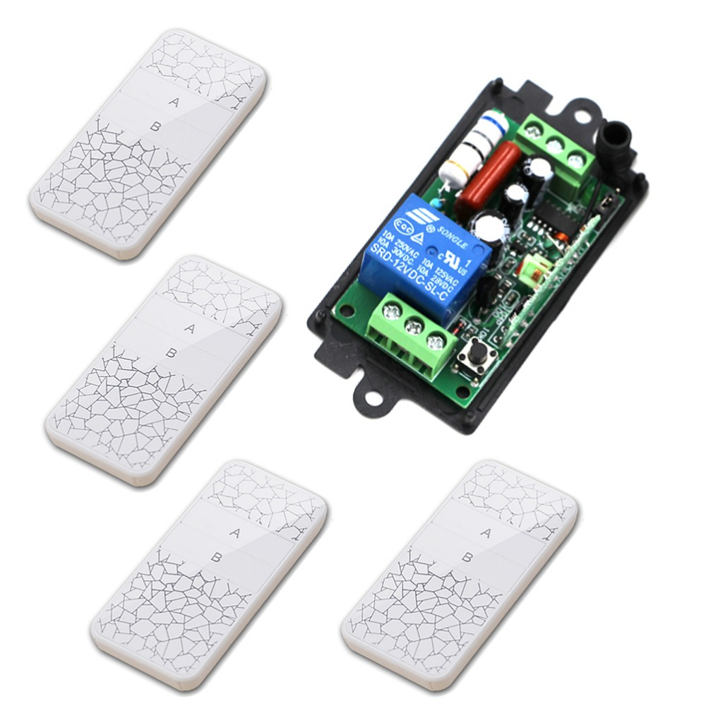 315/433MHZ AC110V 220V 1CH RF Wireless Remote Control Relay Switch Security System Garage Doors Rolling Gate Electric Doors New 315 433mhz 12v 2ch remote control light on off switch 3transmitter 1receiver momentary toggle latched with relay indicator