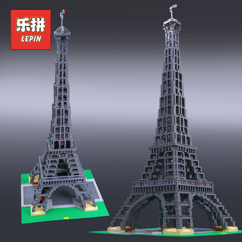 Lepin 17002 Famous City Architecture the Eiffel Tower Set Model Building Blocks Collection Toys 10181 Children Christmas Gift 2018 new famous architecture series the french arc de triomphe 3d model building blocks classic toys gift