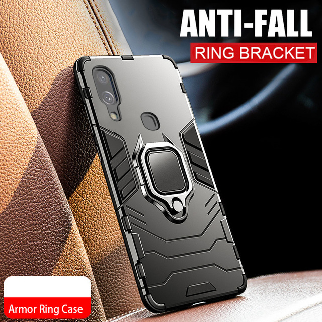 Armor Ring Case For huawei Y7 2019 case Magnetic Car Hold Shockproof Soft Bumper Back Phone Cover For huawei Y7 2019 case