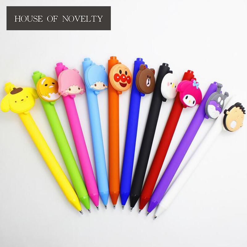 0.5 mm Cartoon Twin Star Bear Melody Animal Press Gel Pen Ink Pen Promotional Gift Stati ...
