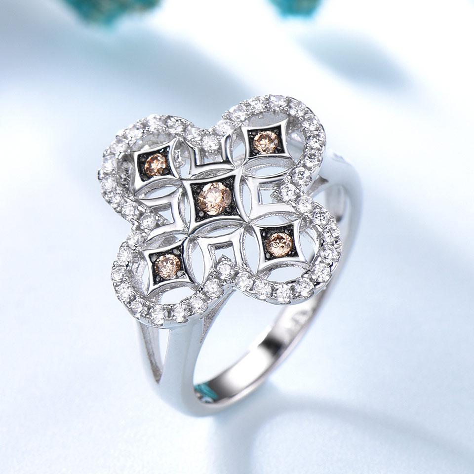UMCHO jaune Zircon Vintage ensembles de bijoux pour les femmes pendentifs anneaux Clip boucles d'oreilles 925 en argent Sterling fête de mariage cadeau bijoux - 4