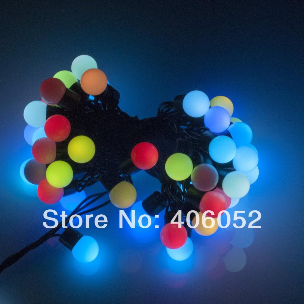 LED Ball String Light 5M 50led 220V Mini Globe Lighting String HI Q  Waterproof Decorative Christmas Tree Party Free Shipping-in LED Strips from  Lights ...