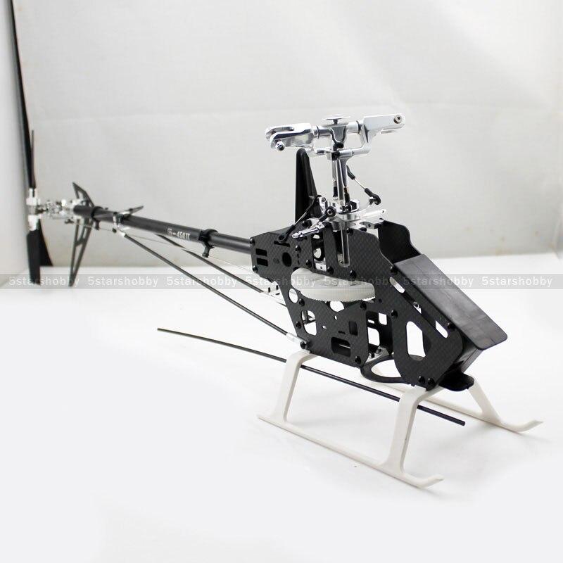 Gartt 450DFC карбоновая рама Крутящий момент трубка 6CH 3D RC вертолет комплект подходит Align Trex 450