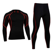 Men Pro Conpression Long Johns Fitness Winter Thermal Underwear Sets Quick Dry Gymming Male Spring Autumn