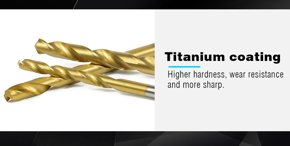 Free Shipping XCAN 99pcs/Set Titanium Coated HSS High Speed Steel Drill Bit Set Tool 1.5mm - 10mm Twist Drill Bit