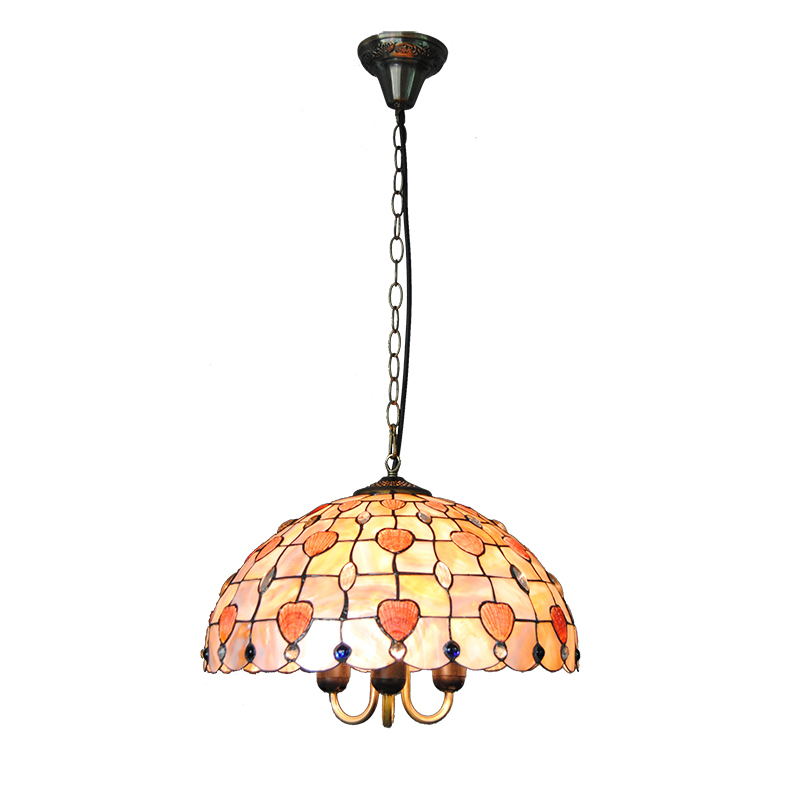16 Tiffany Style Stained Shell Pendant Lamp Vintage Tiffanylampe Suspension Light Fixtures Bar Cafe Living Room Lighting PL808 5 mediterranean tiffany flower hanging lights vintage stained glass shell bar cafe hallway ceiling lamp fixtures lighting cl254