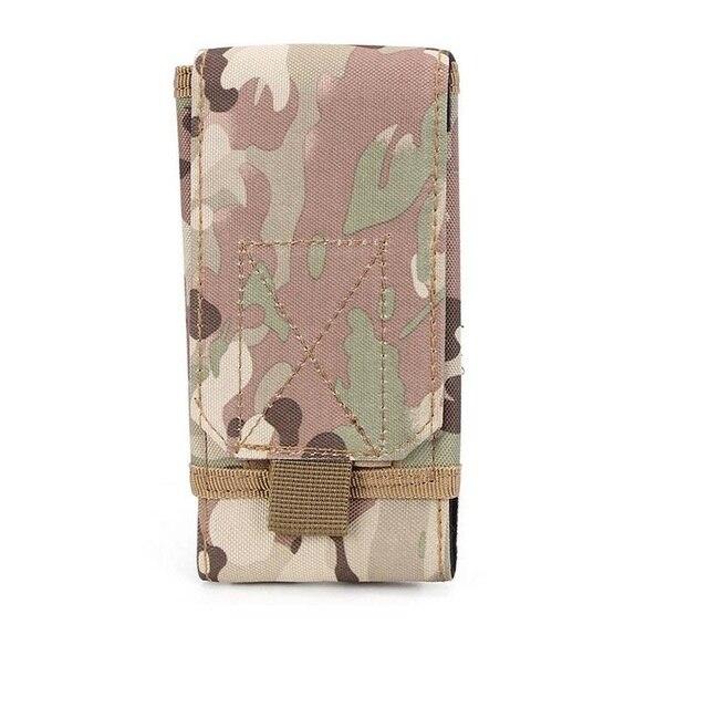 Idyandyans Outdoor Camouflage Fanny Tasche Telefon-Halter Sport Taille Taille Telefon-Halter Telefon G/ürteltasche Jagd Pouch-Pack Wandern Radfahren Lauf
