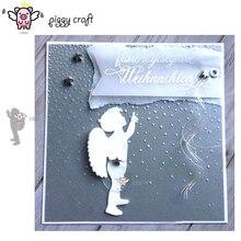 Matrices de découpe en métal artisanal Piggy, moule de découpe, ailes dange pour garçon, Scrapbook, papier artisanal, couteau, moule de lame, poinçon, pochoirs