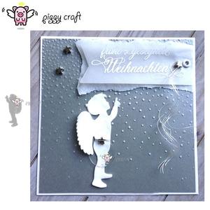 Image 1 - חזירון מלאכת מתכת חיתוך מת לחתוך למות עובש מלאך כנפי ילד Scrapbook נייר קרפט סכין עובש להב אגרוף שבלונות מת