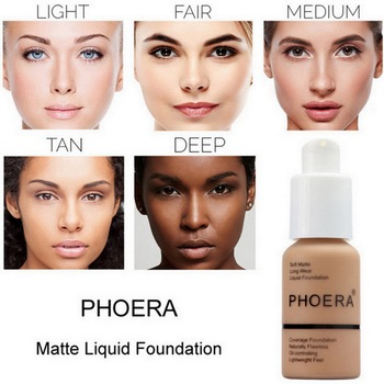 PHOERA Mineral Whitening Concealer Facial Base Cream Brighten Moisturizer Face Liquid Foundation Makeup Primer 1