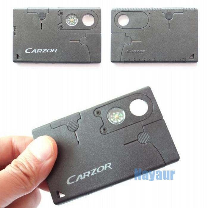 EDC Carzor Swizerland multifunctional tool business card Knife ...