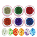 GRACEFUL  6pcs 10ml Soak Off UV Gel Dried Flowers Pattern Nail Art UV LED Soak Off Gel Polish Set Manicure Salon OCT25