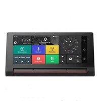 7.0 Inch Car Dash Cam 3G DVR GPS Navigation Android 5.0 Bluetooth WiFi Dashboad DVR FHD 1080P Dual Lens Optional Rear view