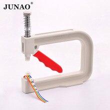 JUNAO 4 5 6 8 10 12 мм белый жемчуг установка машина ручной пресс инструменты бусины на заклепках крепежная машина для швейных изделий