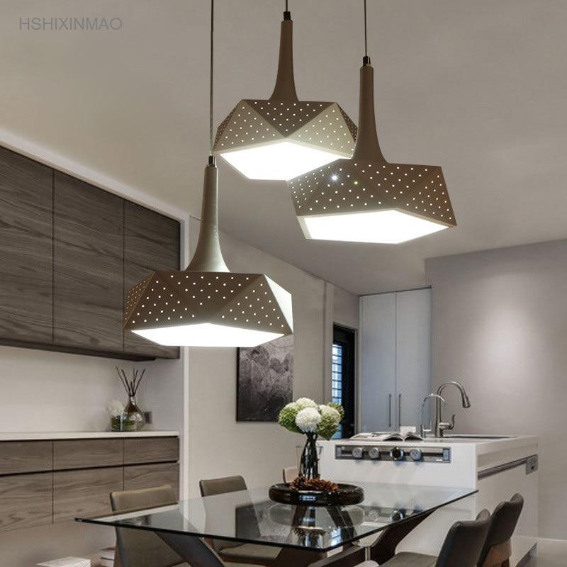 LED chandelier simple modern living room restaurant bar creative personality art Dimming Ceiling lights AC110 240V|Pendant Lights| |  - title=