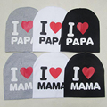 New 0-2 Years Iove MOM Love DAD Letter Cotton Baby Hat Cap Girl Boy Candy Color Lovely kids Baby Girls Boys Infantil Wear XL42