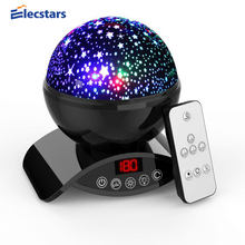 Elecstars LED Night Light Rotating Remote Control Star Projector Moon Lights gifts for women party Kid Baby Children Gift Lamp(China)