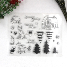 2016 New Christmas Clear stamps Scrapbook DIY clip album cards account rubber stamp transparent silicone seal Xmas Tree