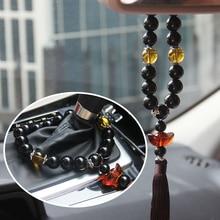 Автомобильный кулон в китайском стиле с кристаллами, Автомобильное зеркало заднего вида, украшение, автомобильные шестерни, украшения-бисер, аксессуары для автомобиля