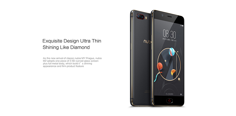 Nubia M2 5.5inch Mobile Phone Snapdragon 625 Octa Core 4GB RAM 64GB128GB 16.0MP Dual Rear 4G LTE Fingerprint 19201080Pixel 1