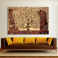 HDARTISAN Canvas Art Tree Of Life Wall Pictures For Living Room Gustav Klimt Painting Home Decor