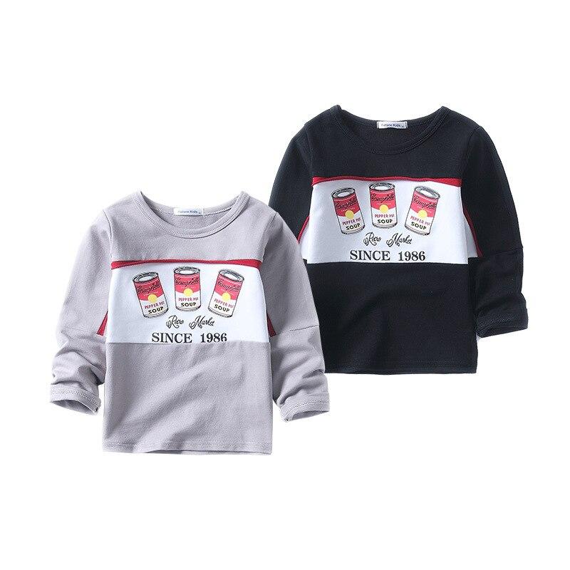 Новое поступление, детская одежда для мальчиков Топ из хлопка + брюки, комплект из 2 предметов с принтами суп футболка с длинным рукавом и тве...