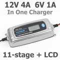 FOXSUR 12 v 4A 6 v 1A 11-bühne Smart Batterie Ladegerät, 6 v 12 v EFB GEL AGM NASS Auto Batterie Ladegerät mit LCD display & Desulfator