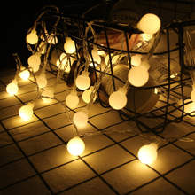 Garland 1 M 10 String LED Ball  Night Light LED Strip Light Led Lights Decoration New Year Christmas Decorations for Home .
