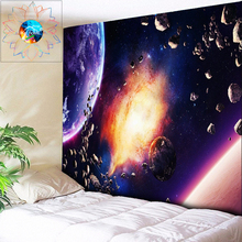 Starry Night Galaxy Hanging Wall Tapestry Hippie Retro Home Decor Tapestri Psychedelic Tapestry Boho Mandala Fabric Art Tapestry wall hanging art decor galaxy print tapestry