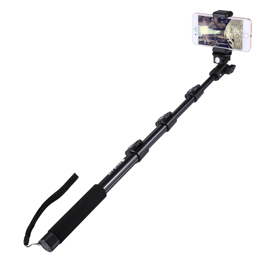 PULUZ Extendable Adjustable Handheld Selfie Stick Monopod for iPhone GoPro HERO 6 5 4 Session Mobile Phone Length: 40 120cm