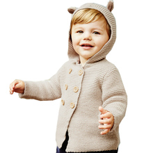 Baby cute boy sweater 2015 autumn female children clothing kids cardigan sweaters girls fashion knitted outerwear