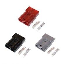Anderson Стиль Plug 50A 600 В двухполюсный разъем DC Мощность Солнечный караван + 2 контакты # w0822s #
