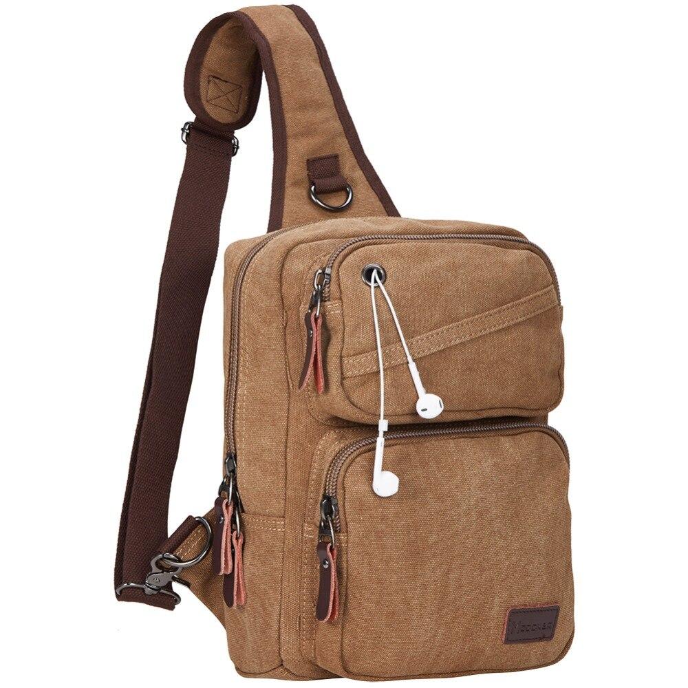 Vintage Messenger Reisetasche Frauen Hohe Qualität Crossbody Canvass Taschen Männer Der Marke Braun Mann Umhängetaschen