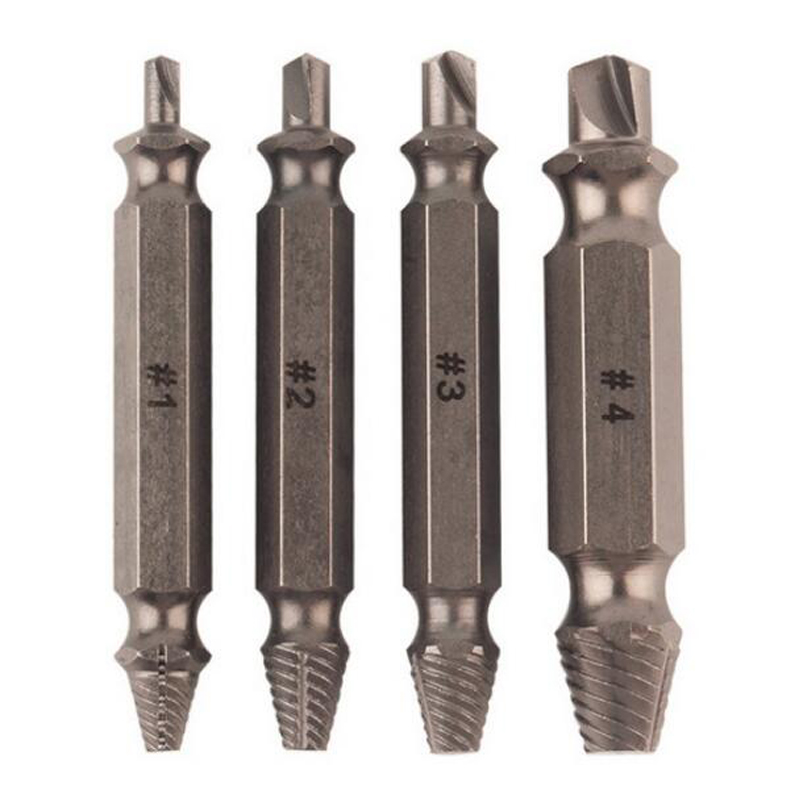 Stud Tool Set Double Side Damaged Screw Extractor Drill Bits Out Remover Bolt S2 Alloy Steel Out Remover Bolt Stud Tool screw extractor 6pcs screw easy speed out broken screw stud extractor remover drill tool set