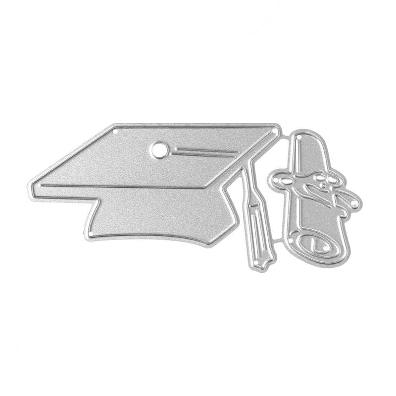 Bachelor Cap Matel Cutting Dies For DIY Scrapbooking Album Embossing Card Decorative Crafts
