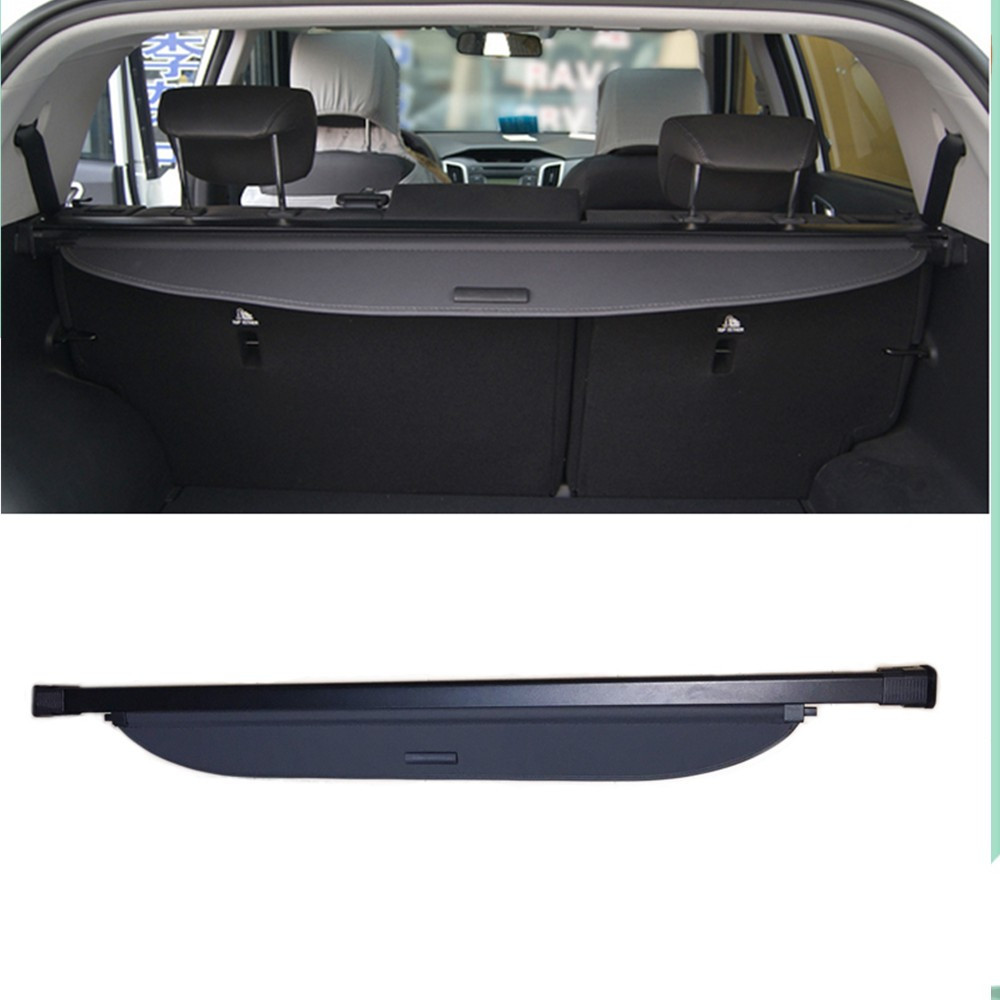 For Hyundai Grand Santa Fe LWB  2013-2015  (6 seat or 7 seat)  , not for 5seats !!! Rear Trunk Security Shield Cargo Cover Black car rear trunk security shield cargo cover for dodge journey 5 seat 7 seat 2013 2014 2015 2016 2017 high qualit auto accessories