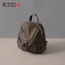 AETOO Кожаный мешок плеча 2017 новый повседневная дикий сумка многофункциональный Сумка коровьей рюкзак