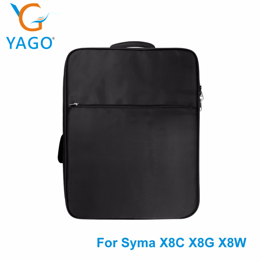 YAGO Drone Waterproof Backpack for Syma X8C X8G X8W RC Helicopter Spare Parts Storage Package drone waterproof backpack mobile phone holder clip mount for syma x8w x8c x8g quadcopter parts accessory drone spare parts