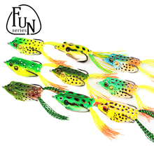 FunSeries 3Pcs/Lot Colorful Artificial Frog Fishing Crank Lures Soft Swim bait Minnow Bait Frog Fishing Lure Fishing Tackle