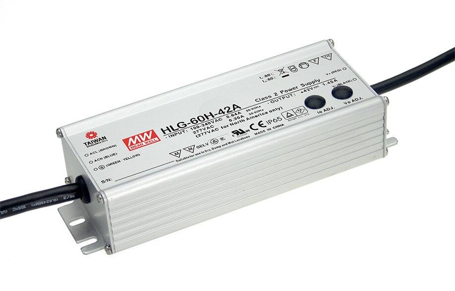 цена на MEAN WELL original HLG-60H-24D 24V 2.5A meanwell HLG-60H 24V 60W Single Output LED Driver Power Supply D type
